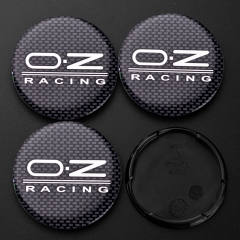 O.Z Racing Wheel Center Caps 55mm Carbon Black M582