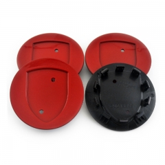 PORSCHE Wheel Center Caps 77mm(60mm) Red #7L5601149