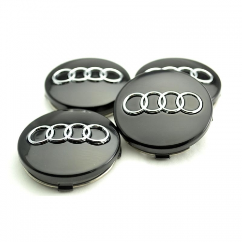 Audi A3-A8 Wheel Center Caps 60mm(58mm) Black #4B0601170