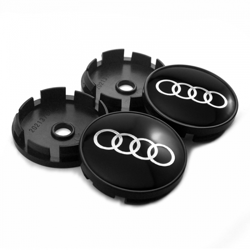 Audi Wheel Center Caps 60mm(56mm) Black