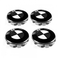 BMW Wheel Center Caps 68mm(65mm) Black White 10 Pins