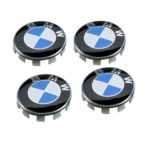 BMW Wheel Center Caps 68mm(65mm) Blue White 10 Pins #36136783536
