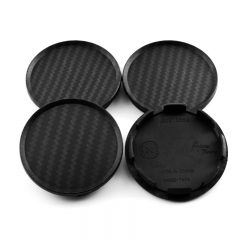 Carbon Black Wheel Center Caps 63mm(57mm)