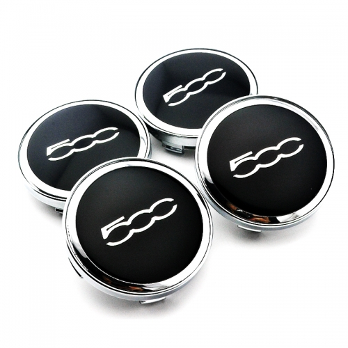 FIAT 500 Wheel Center Caps 60mm(56mm) Chrome