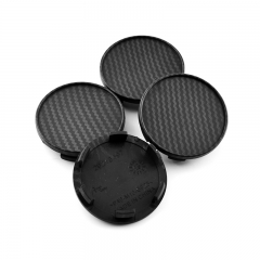 Carbon Black Wheel Center Caps 54mm(49mm)