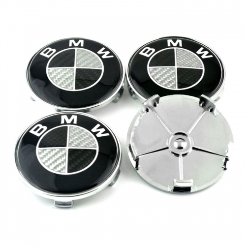 BMW Wheel Center Caps 68mm(65mm) Carbon Fiber