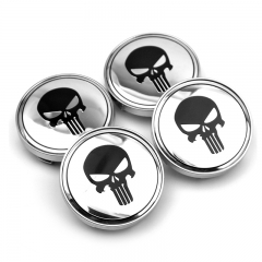 Punisher Skull Wheel Center Caps 60mm(56mm) Chrome
