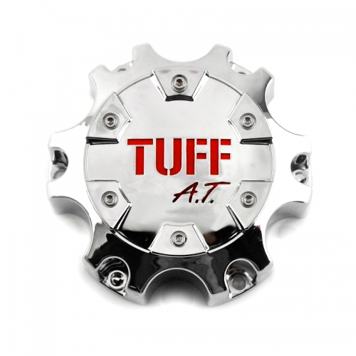 TUFF All Terrain Wheel Center Caps 135mm Chrome 6 Lug Nuts
