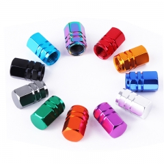 Mixed Color Hex Tyre Valve Dust Caps