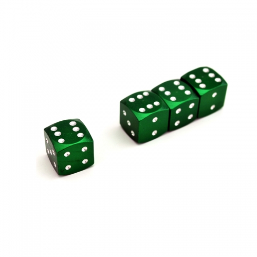 Green Dice Tyre Valve Dust Caps