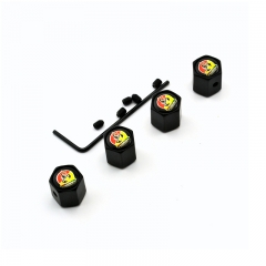 Abarth Tyre Valve Dust Caps Black
