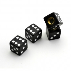 Black Dice Tyre Valve Dust Caps
