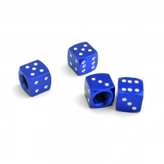 Blue Dice Tyre Valve Dust Caps