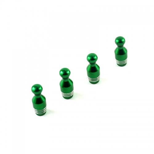 Bowling Tyre Valve Dust Caps Green