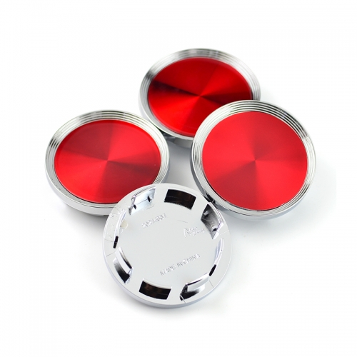 Laser Reflective Wheel Center Caps 65mm(55mm) Red
