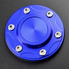 Blue Push-through Alloy Metal Wheel Hub Caps 106mm
