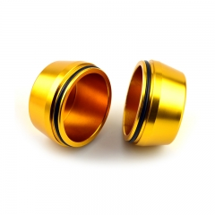 Gold Push-through Alloy Metal Wheel Hub Caps 60mm(56mm)