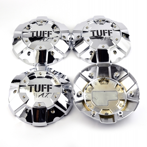 TUFF A.T Wheel Center Caps 207mm Chrome