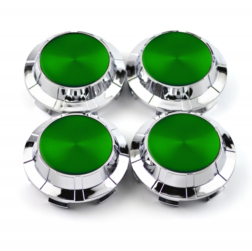 GMC Caddillac Chevy Wheel Center Caps 83mm(76mm) Green