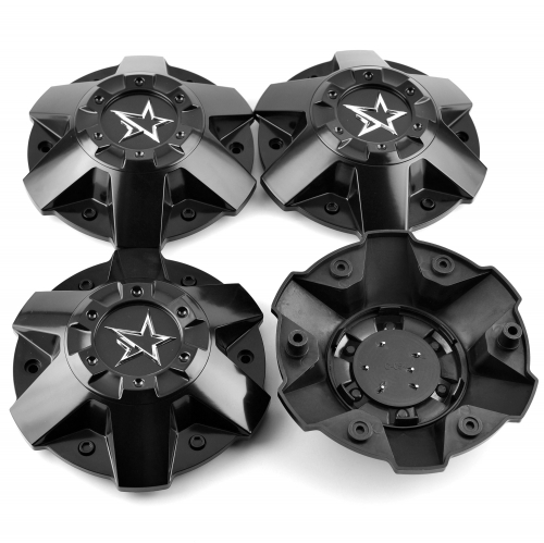 KMC XD Series Wheel Center Caps 196mm Black