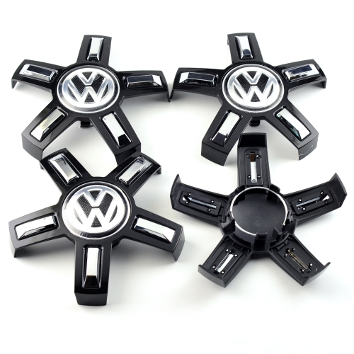 VW Passat Wheel Center Caps 165mm(55mm) Black