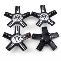 VW Wheel Center Caps 166mm(56mm) Black