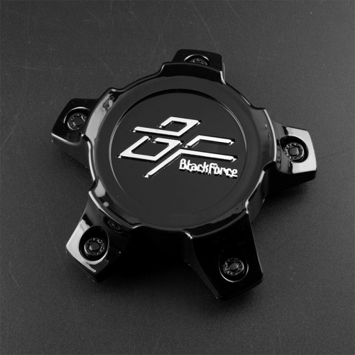 BlackForce Wheel Center Caps 117mm(73mm) Brilliant Black