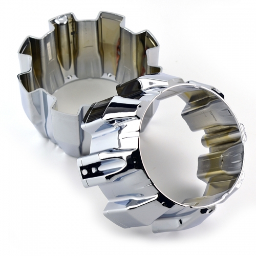 ION Alloy Wheel Center Caps 168mm Chrome Open End 8 Lug Nuts #C101710-0