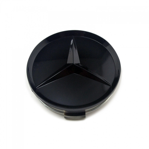 Mercedes Benz Wheel Center Caps 75mm(70mm) Glossy Black #2204000125