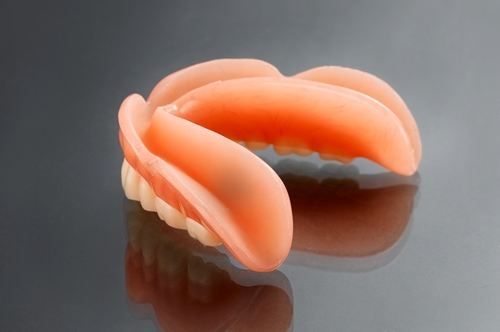 removable-full lower acyrlic denture with soft lining