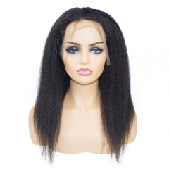 Virgin full lacce kinky straight wigs