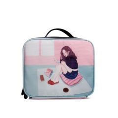 LUB010 White 900D PU Coated lunch box