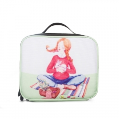 LUB004 White 900D PU Coated  lunch box