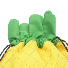 KID030 Pineapple Shaped Drawstring Bag