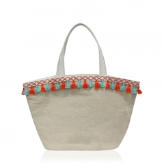 HAB059 Linen-Cotton Handbag