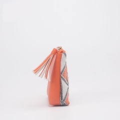 FAS050 Woven Cotton With PVC leater Bag