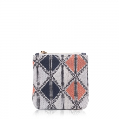 FAS049 Woven Cotton With PVC leater Bag