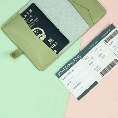Practical Passport Holder Recycled Leather - TRA022