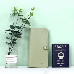 Elegant Passport Holder Recycled Leather - TRA021