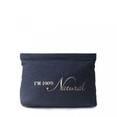 Spring Pouch Cosmetic Bag Banana Fiber - CNC044