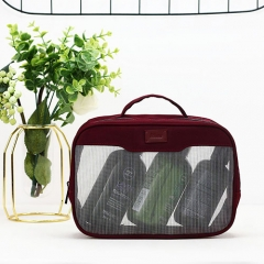 Travel Beauty Makeup Case Recycled PET Nylon Mesh - CBT131