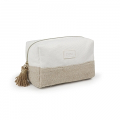 Small Pouch Cosmetic Bag Bamboo Fiber Jute - CBB044