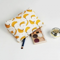 Spring Pouch Cosmetic Bag Banana Fiber - CNC049