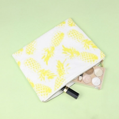 Flat Pouch Cosmetic Bag Pineapple Fiber - CNC090
