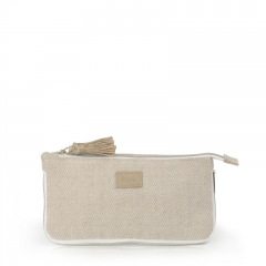 Small Pouch Cosmetic Bag Bamboo Fiber Jute - CBB042