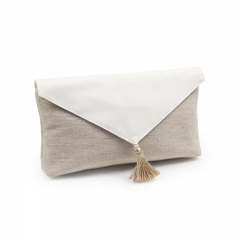 Clutch Cosmetic Bag Bamboo Fiber Jute - CBB046