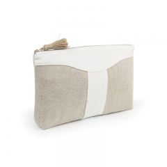 Clutch Cosmetic Bag Bamboo Fiber Jute - CBB040