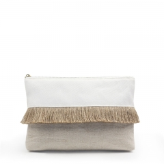 Clutch Cosmetic Bag Bamboo Fiber Jute - CBB045