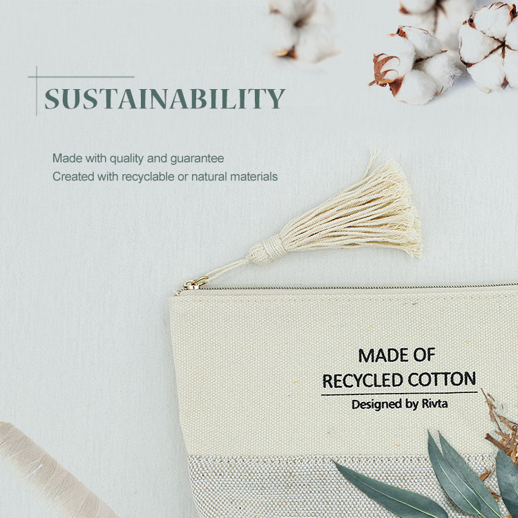 Essential Pouch Cosmetic Bag Recycled Cotton - CBC086