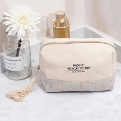 Small Pouch Cosmetic Bag Recycled Cotton - CBC088